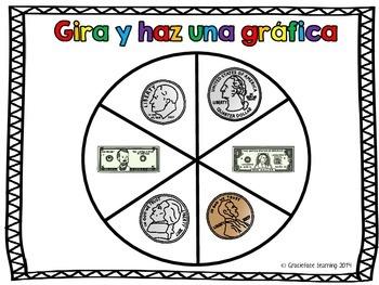 Gira y haz una gráfica - Las monedas