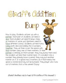 Giraffe Addition Bump