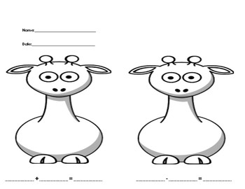 Giraffe Addition and Subtraction
