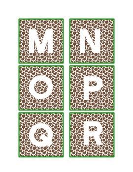 Giraffe Alphabet Letters