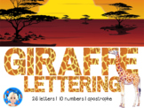 Giraffe Animal Print Letters and Numbers Font Clip Art