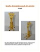 Giraffe: Animal/Savannah Art Acitivty