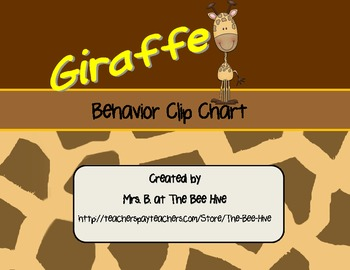 Giraffe Behavior Clip Chart