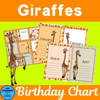 Giraffe Birthday Chart