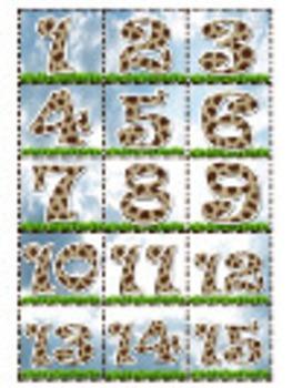 Giraffe Calendar
