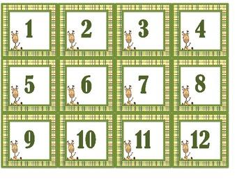 Giraffe Calendar Headers