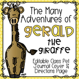 Giraffe Class Pet Journal Cover & Directions Page