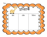 Giraffe Comprehension Activities