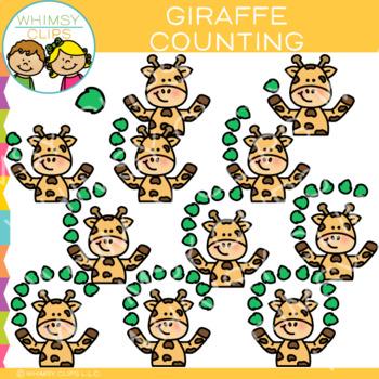 Giraffe Counting Clip Art