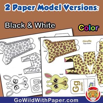 Giraffe Craft Activity | 3D Paper Model