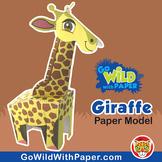 Giraffe Craft Activity   3D Paper Model