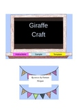 Giraffe Craft Early Childhood Activity