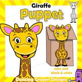 Giraffe Craft Activity   PrintablePaper Bag Puppet Template