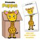 Giraffe Craft Paper Bag Puppet