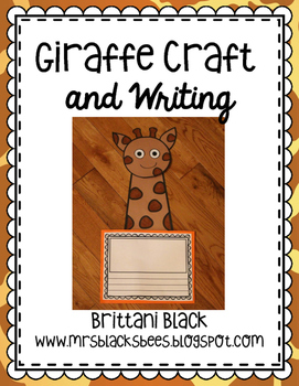 Giraffe Craft and Writing