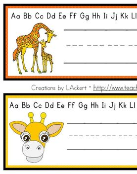 Giraffe (Cute Animals) Desk / Name / Cubbie Tags