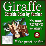 Make Your Own Color By Number Giraffe (Biomes Series #1)