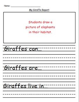 Giraffe Explanatory Text Writing