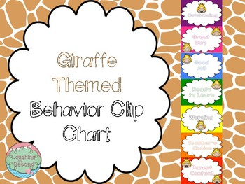 Giraffe Faces Themed Behavior Chart