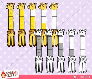 Giraffe Fractions Clipart