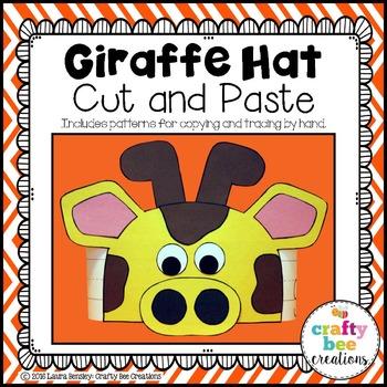 Giraffe Hat Cut and Paste