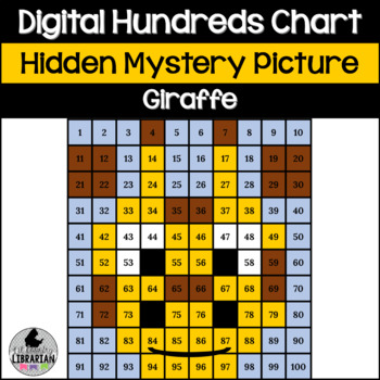 Giraffe Hundreds Chart Hidden Picture Activity for Math or Zoo Theme