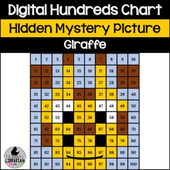 Giraffe Hundreds Chart Hidden Picture Activity for Math or Zoo Theme