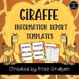 Giraffe Information Report Writing Activity