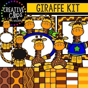 Giraffe Kit {Creative Clips Digital Clipart}