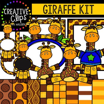 Giraffe Kit {Creative Clips Digital Clipart}