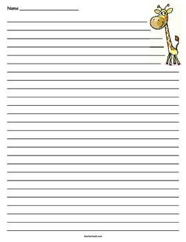 Giraffe Lined Paper