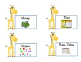 Giraffe Math and Language  Labels