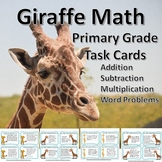 Giraffe Math Primary Task Cards: One & Two Digit Operation