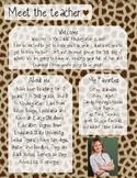 Giraffe Meet The Teacher Template **Editable**
