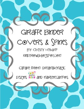 Giraffe Monthly Binder Covers and Spines