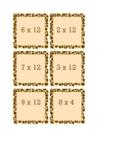 Giraffe Multiplication Cards