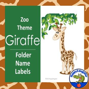 Giraffe Name Labels EDITABLE For a Jungle Safari or Zoo Theme