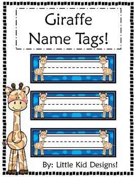 Giraffe Name Tags - Printable Name Tags