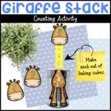Giraffe Stack Fine Motor Counting Zoo Activity