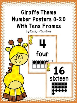 Giraffe Number Posters