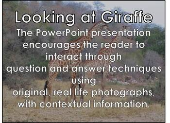 African Animals: Giraffe - PDF presentation