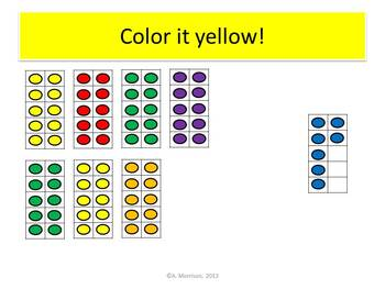 Giraffe Place Value Tens Frames - Watch, Think, Color Mystery Pictures