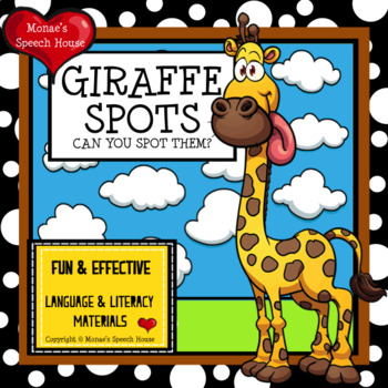 GIRAFFE POSTER & BOOK EARLY READER SPEECH THERAPY PRE-K