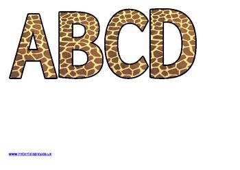 Giraffe Print Alphabet Letters