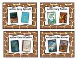 Giraffe Print Classroom Library Book Basket Labels Add-On