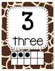 Classroom Decor Giraffe Print Classroom Number Posters 1-20