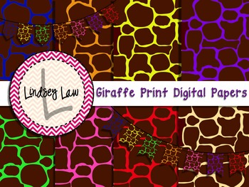 Giraffe Print Digital Papers