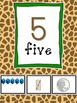 Giraffe Print Number Posters 1-20 and Counting by 10s and Ordinal Numbers