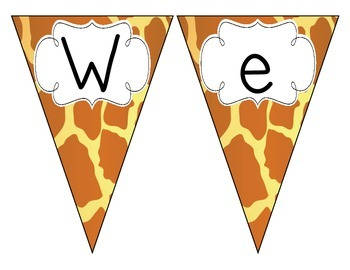Giraffe Print Welcome Pennant