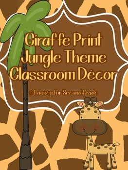 Giraffe Print/Jungle Theme Classroom Decor Pack